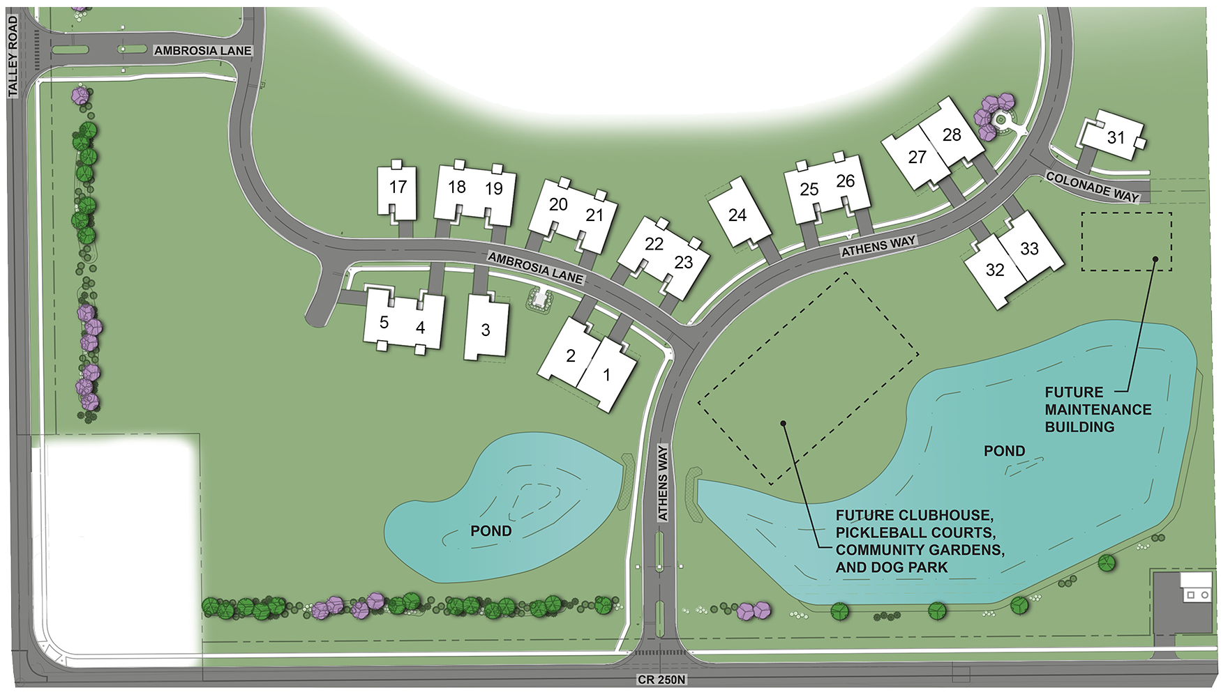 * This is a proposed site plan for phase one of development and is subject to change.